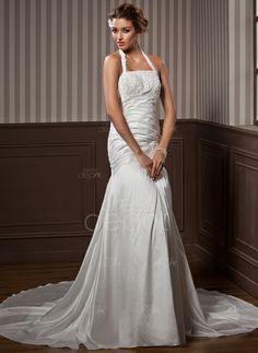 Trumpet/Mermaid Strapless Chapel Train Taffeta Wedding Dress With Ruffle Lace Beading (002001582) http://www.dressdepot.com/Trumpet-Mermaid-Strapless-Chapel-Train-Taffeta-Wedding-Dress-With-Ruffle-Lace-Beading-002001582-g1582 Wedding Dress Wedding Dresses #WeddingDress #WeddingDresses