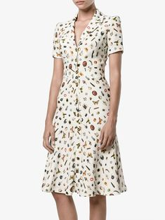 Shop Alexander McQueen Obsession print shirt dress from our Day Dresses collection. Day Dresses, Cute Dresses, Vintage Dresses, Dress Outfits, Casual Dresses, Short Dresses, Fashion Dresses, Alexander Mcqueen, Dress Sewing Patterns