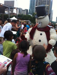 Roving Christmas Snowman character Alan Casey Entertainment Agency