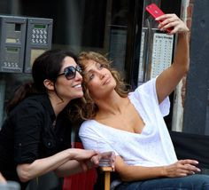 Lynda Lopez & Jennifer Lopez from The Big Picture: Today's Hot Photos  Selfie time! The sisters are seen posing for a photo while on the set of Shades of Blue in New York.