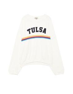 Sweatshirt tekst regenboog - Sweaters - Kleding - Dames - PULL&BEAR Netherlands