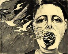 art journaling - Erika Khun, Agujero de Las Golondrinas, moleskin illustration