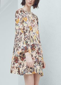 Floral-print flowy dress - Dresses for Women | MANGO