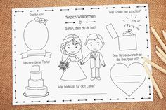 """Gastgeschenke - Malvorlage PDF """"Grace"""" Hochzeit Gastgeschenk - ein Designerstück von LoveGrows bei DaWanda"""