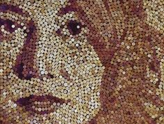 wine cork art - cool! hey girls, think we can drik enough wine to make this???