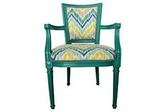 Armchair w/ Chevron Upholstery - for Mom's chairs. I love, love, love this chair and fabric!!!
