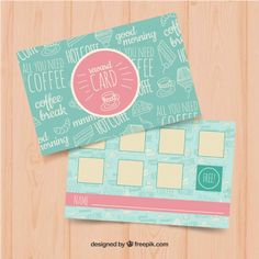 id card vector freepik beautiful loyalty card template with coffee coupons vector of id card vector freepik Loyalty Card Template, Packaging Design, Branding Design, Coffee Coupons, Cupons, Business Card Design Inspiration, Coffee Cards, Chocolate Packaging, Business Cards