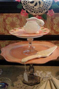 repurposed tiered dessert platter