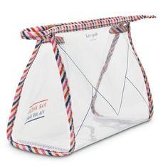 kate spade par avion cosmetics bag I want this too ; My Bags, Purses And Bags, Unique Backpacks, Clear Plastic Bags, Travel Cosmetic Bags, Kate Spade Cosmetic Bag, Transparent Bag, Bag Packaging, Kate Spade Handbags