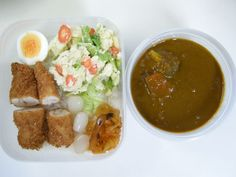 Curry and rice (Chiken tender katsu)   20121031 Lunch