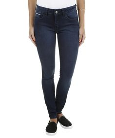 Calça Jeans Skinny Azul Escuro - cea