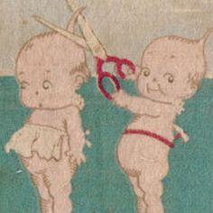 A naughty kewpie :) Kewpie Doll, Little Cherubs, Think Happy Thoughts, Dear Mom, Chubby Cheeks, Mom Tattoos, Australian Art, Hello Dolly, Quote Prints