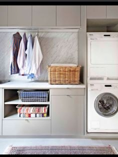 Modern laundry rooms ideas for how to style your laundry — The Little Design Corner Eyebrow Makeup Tip Mudroom Laundry Room, Laundry Storage, Laundry In Bathroom, Utility Room Storage, Hidden Laundry, Laundry Cabinets, Laundry Appliances, Storage Room, Closet Storage