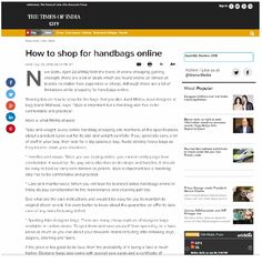 Online Coverage - The Times Of India