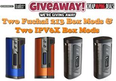 We're giving away two Sigelei Fuchai 213W & two Pioneer4you IPV6x 200W Box Mods. This giveaway is sponsored by Gearbest.com.