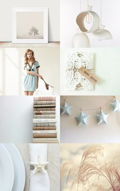 softer shade of love by Pamela Bates on Etsy--Pinned with TreasuryPin.com   star garland   pastel   spring