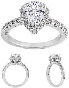 Pear Shaped Diamond Engagement Ring