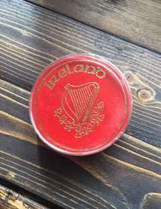 Ireland Souvenier Coasters with Harp -Set of 4 - Vintage New Old Stock Barware, Irish, Collectibles 1950s Pin Up, Red Rose Tea, Harp, Red Roses, Barware, Craft Supplies, Coasters, Ireland, Irish