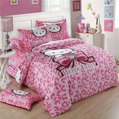 Hello Kitty leopard bedspread