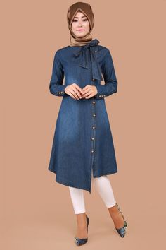 Shop sexy club dresses, jeans, shoes, bodysuits, skirts and more. Abaya Fashion, Denim Fashion, Fashion Outfits, Outfits Blue Jeans, Dress Outfits, Hijab Jeans, Jeans Dress, Denim Mantel, Autumn Fashion Grunge