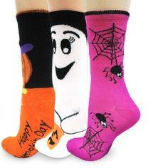TeeHee Halloween Socks Women's Crew 3 Pairs Combined Socks Spider Web, Pumpkin, Ghost Soxnet http://www.amazon.com/dp/B009I6CNA2/ref=cm_sw_r_pi_dp_OFQ5wb0MBQYD6