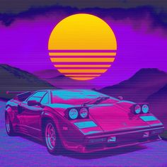 As requested by many of you :) - outrun Cyberpunk Aesthetic, Arte Cyberpunk, Neon Aesthetic, Wallpaper Space, Purple Wallpaper, Color Posters, Vaporwave Art, Sunset Photos, Jdm Cars