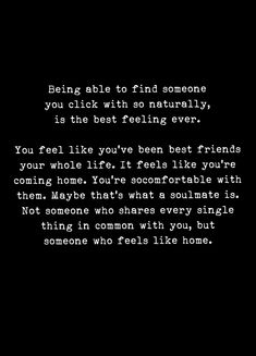 Soulmate and Love Quotes : QUOTATION – Image : Quotes Of the day – Description Soulmate And Love Quotes: My best friend my soulmate. You are that someone who feels like Home PB. You ar Sharing is Power – Don't forget to share this quote ! Now Quotes, Soulmate Love Quotes, Love Quotes For Him, Words Quotes, Life Quotes, Sayings, Soul Mate Quotes, You Make Me Happy Quotes, Qoutes