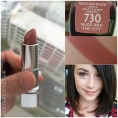 Her Makeup Memoir: Rimmel Moisture Renew Lipstick in Nude & The City