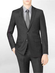 Calvin Klein Body Slim Fit Charcoal Wool Suit Jacket  Menssuits Suit  Jacket c8ba4c2c623