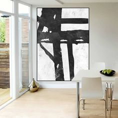 Huge Large Canvas prints add a unique touch to your home. Modern, stylish and unique design will be the most special piece of your decor. Especially for those who like abstract works, black and white acrylic painting can be prepared in desired sizes large abstract Painting on canvas, handmade original Painting, Abstract Canvas Painting, large Canvas Art, Black and White painting 16x24 (40x60cm) $75 20x30 (50x76cm) $110 30x40 (76x102cm) $180 36x48(92x122cm) $240 40x53.5(102x136cm) $310…