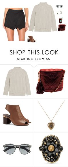 """""""Untitled #2084"""" by tayloremily218 on Polyvore featuring Theory, Chanel, Tory Burch, Accessorize, Illesteva, Gucci and MANGO"""