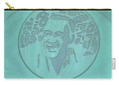 Carry-all Pouch featuring the photograph Cuba Plaque 1999 by Francesca Mackenney