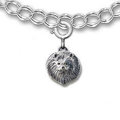 Sterling Silver Pomeranian Charm