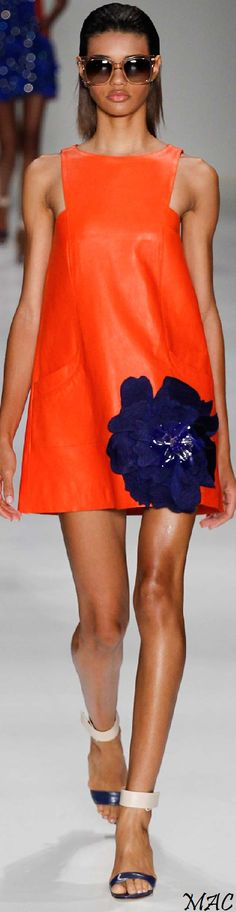 Sao Paulo Spring 2015 PatBo...BozBuys Budget Buyers Best Brands! orange dress women fashion outfit clothing style apparel @roressclothes closet ideas