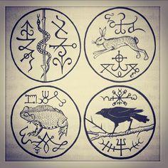 Sigils & Symbols:  Gemma Gary's #Seals of the Four Roads, via witcheryway on Instagram.
