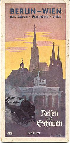 1939 poster for travel from Berlin to Vienna