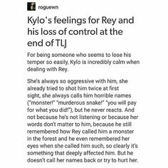 He is in love with her. #TLJ #reylo #kylo