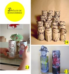 recycler rouleaux papier  upcycled toilet paper roll
