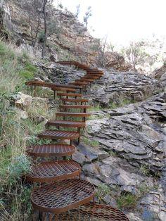 Steps at Mackenzie Falls Halls Gap Australia