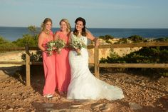 Anna Burton and her bridesmaids