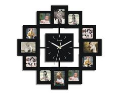 Creative Motion Industries 12 Photo FRAMEs AND Clock