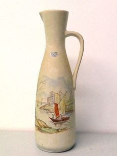 Keramik Vase Henkelvase @ Label @ Jasba @ 50er Dekor @ 221 - 35 Germany  | eBay