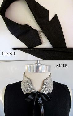 IPOTCH Cuello Falso de Algod/ón Collar Babero Media Camisa Desmontable Accesorios de Ropas para Mujer