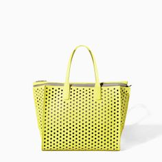 Would look lovely with any of your Spring/Summer frocks: PERFORATED SHOPPER BAG