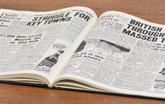To commemorate the 70th anniversary of the Battle of Normandy, we have created this wonderfully unique D-Day Landings Newspaper Book. A detailed compilation of newspaper coverage which outlines the major events from the D-Day Landings on 6th June 1944 through to the Parisian's first day of freedom on 27th August 1944.  The Battle of Normandy, otherwise known as Operation Overload, was the Allied invasion of German occupied Western Europe during the Second World War. #nostalgia #gift