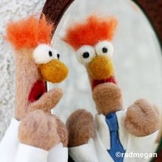 Beaker: The Most Easily-Frightened (Needle-Felted) Muppet Ever. - Radmegan