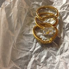 Ring Set Avon Cushion Cut Pave 3 Piece Ring Set Size 7.    new in box never worn Avon Jewelry Rings