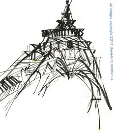 Urban Sketchers: The Many Views Of The Eiffel Tower