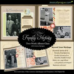 AMAZING Family History album class by the one and only.. @Jessica Sprague #familyhistory