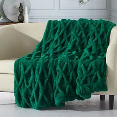 House of Hampton Northview Blanket Color: Green